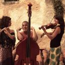 Um trio no qual o violino pode ser dedilhado como um cavaquinho; o contrabaixo pode perder uma das cordas, a flauta pode ganhar sopros arrojados, os corpos viram instrumentos percussivos.